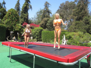 Hot Bikini Girls on Trampoline